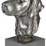 17931 silver labrador dog head ornament