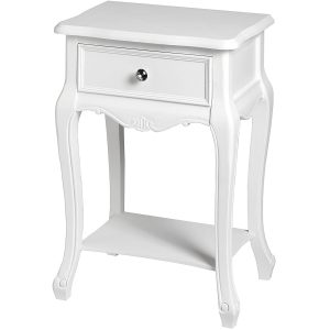 17959 white lamp table