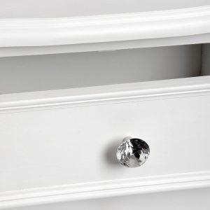 17960-b white 2 drawer side table