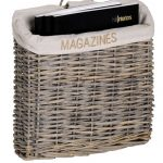 2610 rustic wicker fabric magazine rack