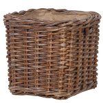 Large Sturdy Lined Basket Brown