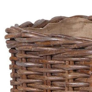 Large Sturdy Lined Basket Brown 2