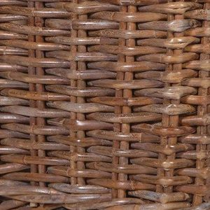 Large Sturdy Lined Basket Brown 3