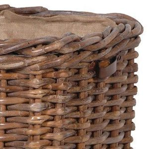 Large Sturdy Lined Basket Brown 4