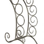 MNX281 grey metal scroll 4 bottle wine rack
