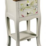 PGO057 Country Style Floral Bedside Table