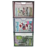 Retro Style Metal Wall Magazine Rack