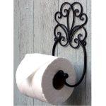 Shabby Chic Toilet Roll Holder Black