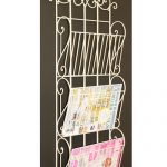 Shabby Chic Wall Mounting Magazine Rack Cream