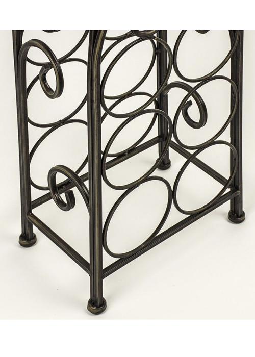 Vintage Style Black Metal Wine Rack