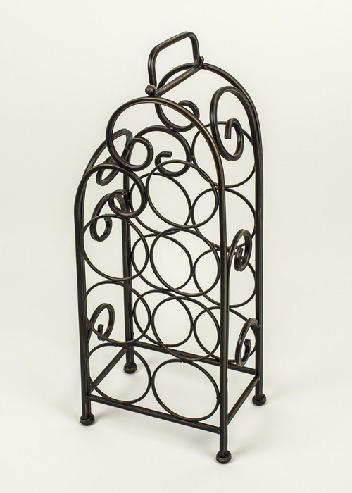 Vintage Style Black Metal Wine Rack e