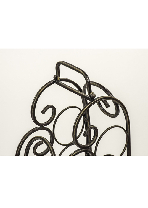 Vintage Style Black Metal Wine Rack f