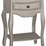 ZJW102 Shabby Chic Grey Painted Bedside Table