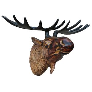 aw7213_1 brown moose head wall decoration