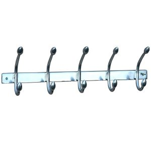 aw7246_1 silver grey double hooks rack