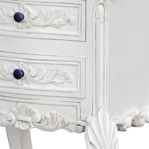 j2113a-wh-det1_1 Ornate French Country White Bedside Table
