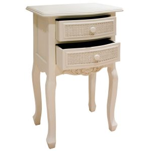 pfj005-angled-open Off White Wood Rattan Bedside Table