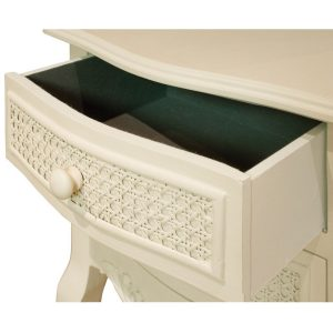pfj005-detail-3 Off White Wood Rattan Bedside Table