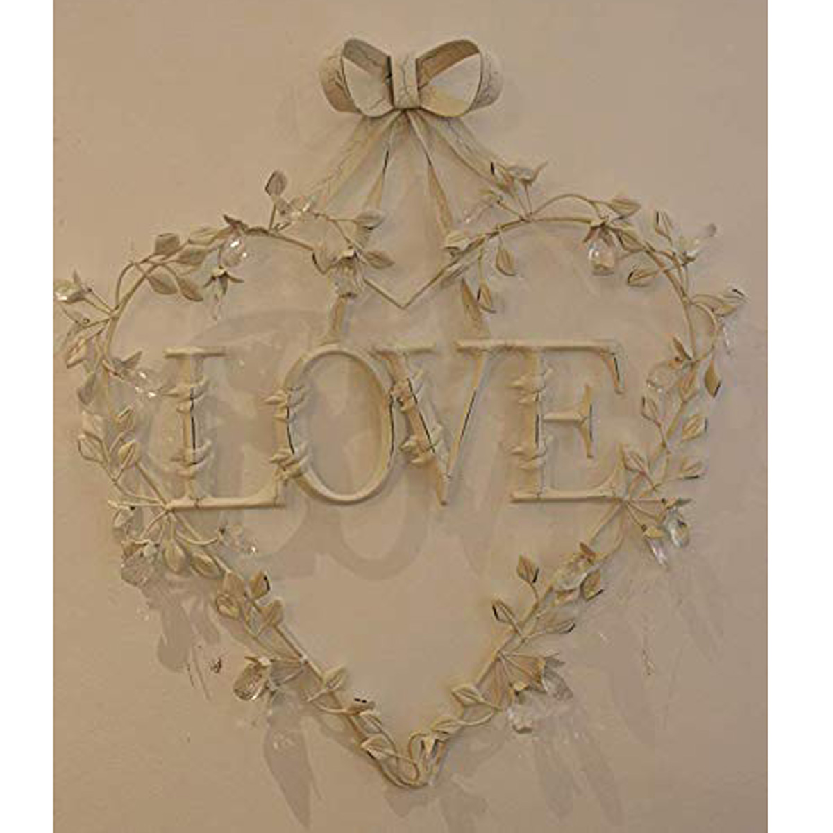 Antique Silver Wall Hanging Metal Heart