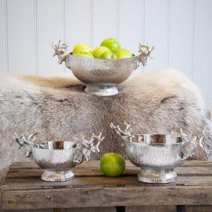 sg-sg-med_3 Stag Head Handle Medium Decorative Bowl
