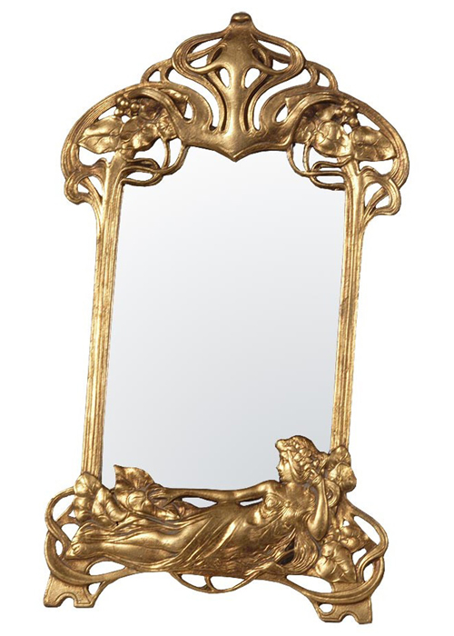 tbm090-go-29-51 gold ornate art nouveau style mirror