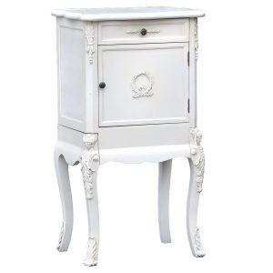 tfc9916-aw_1 Shabby Chic Antique White Bedside Cabinet