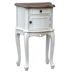 tfg002-aw French Farmhouse Soft White Bedside Cabinet