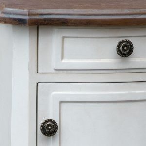 tfg002-aw-det1 French Farmhouse Soft White Bedside Cabinet