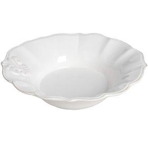 16321 Stylish Elegant White Ceramic Fleur De Lys Bathroom Plate Holder Dish