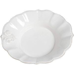 16321 Stylish Elegant White Ceramic Fleur De Lys Bathroom Plate Holder Dish 3