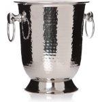 26424_Decorative Hammered Stainless Steel Wine Bucket