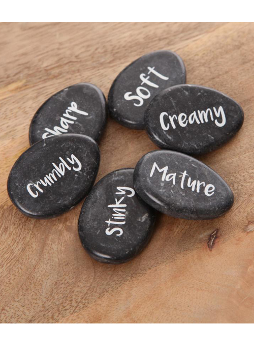 30049-1_Set of 6 Lovely Black Marble Stone Cheese Markers Set …