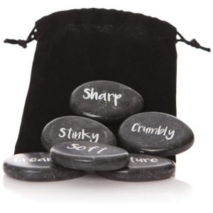 30049_Set of 6 Lovely Black Marble Stone Cheese Markers Set …