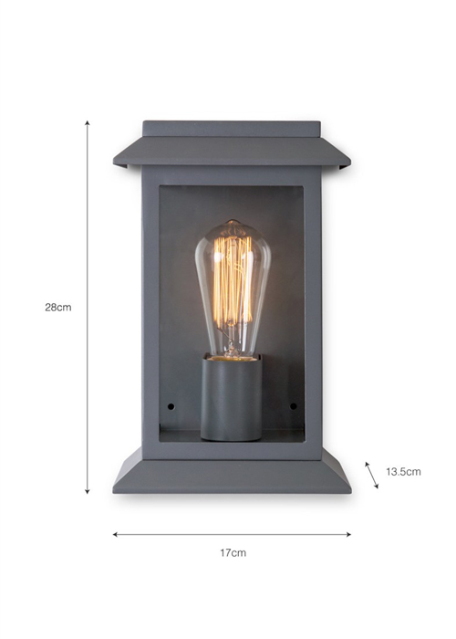 Grosvenor-Light-Charcoal-LAGV01-DIM Outdoor Wall Lamp Light