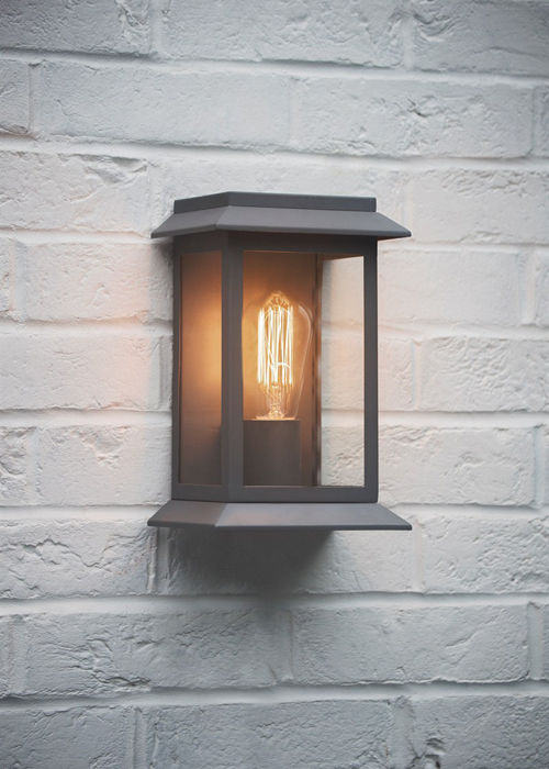 Grosvenor Light - Charcoal - with squirrel bulb - LAGV01 Outdoor Wall Lamp Light