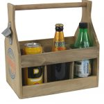 PC264A-2 Vintage Retro Style Lemonade Wooden Sturdy Bottle Opener Holder Carrier Crate