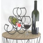 SC005 - 2 Contemporary Black 6 Bottle Wine Rack