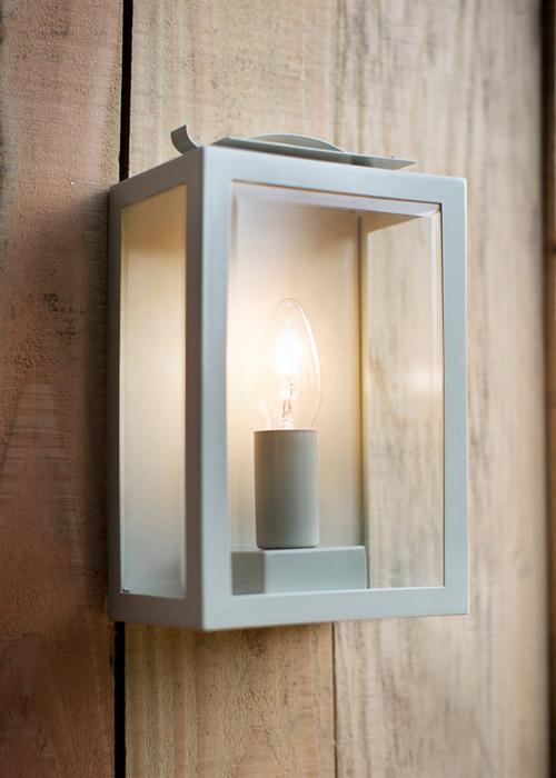 Swinbrook-Lantern-Clay---LISC02 Soft White Garden Outdoor Wall Lantern Light