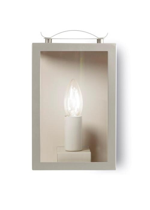 Swinbrook Lantern Clay - LISC02 Soft White Garden Outdoor Wall Lantern Light