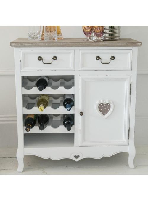 Wine Rack Kitchen Cabinet White