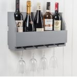 M900801_a_Painted Dove Grey Sturdy 4 Glass Stem 5 Bottle Wine Rack