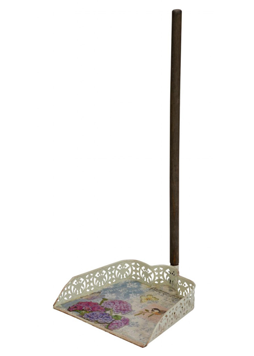NYC089__Vintage Style Floral Pink Blue Decorative Cleaning Accessories Sweep Dust Pan