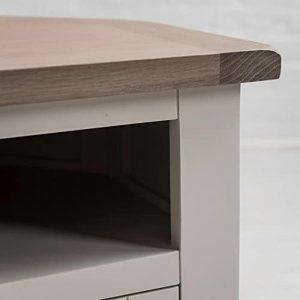Sturdy White Oak Pine Wooden Handle TV Television Corner Stand Cabinet b