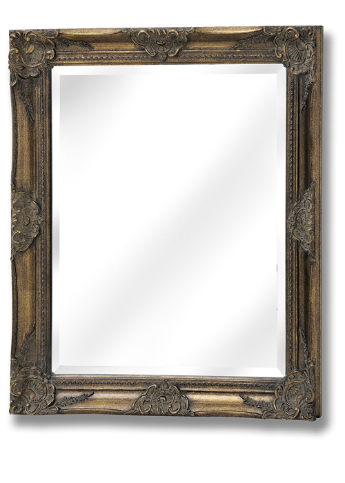 15315 French Vintage Style Antique Gold Effect Rectangle Ornate Wall Hanging Mirror