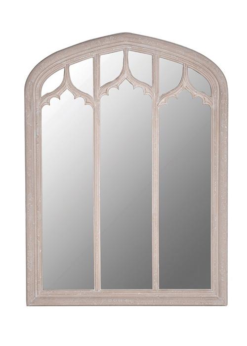 SHQ212 Traditional Style Neutral Cream Beige Stone Effect Large Triple Window Mirror …