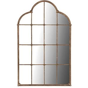 STN773 Antique Vintage Style Brown Distressed Effect Finish Large Lattice Mirror …
