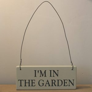 Country Green In the GARDEN Hanging Sign