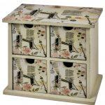 HFL071 Vintage Style 4 Drawer Organiser
