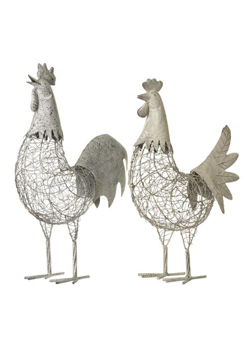 Large Grey Chicken Hen Decoration