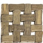 PFI002 Set of 4 Brown Bamboo Coasters